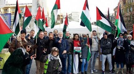 Hollanda'da Filistin'e destek gösterisi düzenlendi
