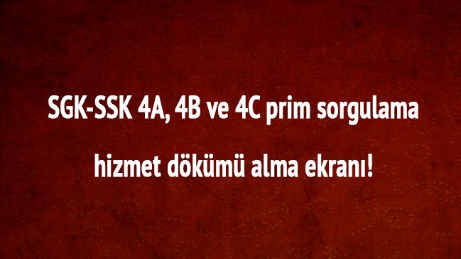 E-devlet+SGK-SSK+prim+sorgulama+4A,+4B,+4C+Hizmet+Prim+D%C3%B6k%C3%BCm%C3%BC+TC+kimlik+no+ile+
