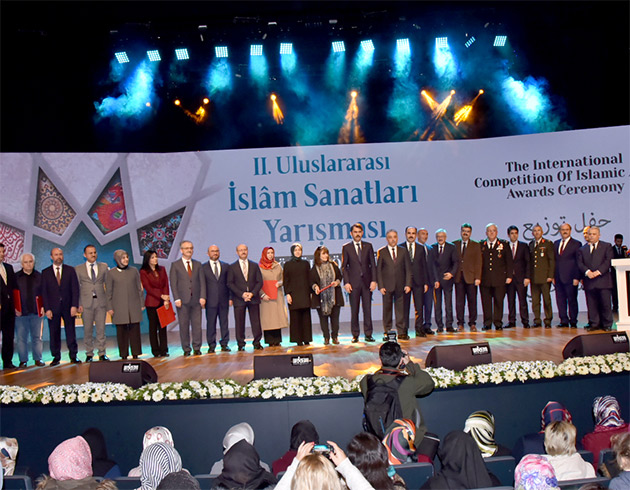 uluslararası İslam sanatları yarışmasının Ödülleri verildi