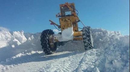 Çorum'da karla mücadele çalışmaları