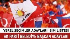 Son dakika - AK Parti belediye başkan adayları 2019 son dakika AK Parti il-ilçe belediye başkan adayları