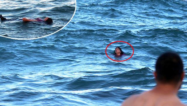 Psikolojik tedavi gördüğü iddia edilen kadın kendini Karadeniz'in buz gibi sularına attı