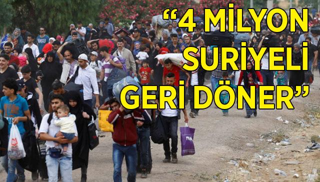 Suriyeliler dönüş için umutlu: 4 milyon insan döner...