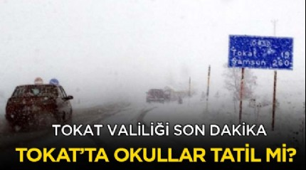 Tokat okullar tatil mi? 17 Ocak Tokat kar tatili var mı Valilik son dakika açıklaması