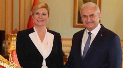 Hırvatistan Cumhurbaşkanı Kitaroviç Türkiye'de