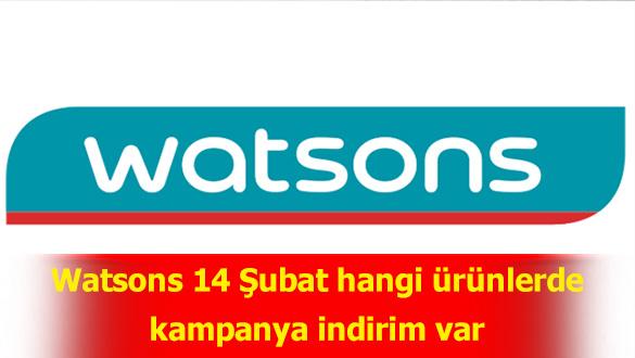 Watsons 14 Şubat indirimleri - hangi ürünlerde kampanya indirim var