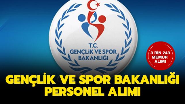 Gençlik Ve Spor Bakanlığı Personel Alımı Başvuru şartları
