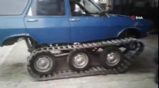Son dakika - 77 model Torosu paletli kar aracına dönüştürdüler