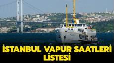 Son dakika - 2019 Adalar Eminönü vapur seferleri - Eminönü Kadıköy vapur saatleri
