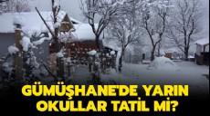 Son dakika - 19 Şubat Gümüşhane kar tatili son dakika Valilik MEB açıklaması