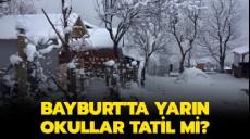 Son dakika - 19 Şubat Bayburt kar tatili son dakika Valilik MEB açıklaması